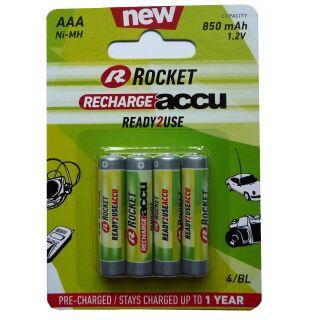 Rocket HR3-850-R2U Akku AAA Micro Ready to use 850 mAh 4er Blister