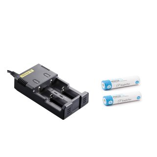 Nitecore Intellicharger I2 inkl. 2 x Eageltac 18650 2500 mAh