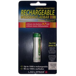 LED LENSER ICR14500 Lithium rechargeable battery for P5R