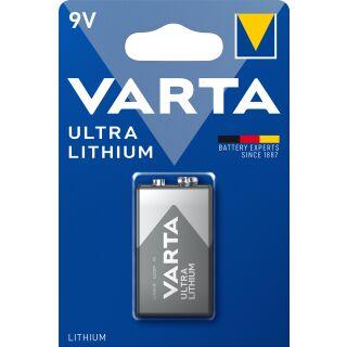 Varta Ultra Lithium Batterie  (9V, 1200mAh, 1-er Blister)