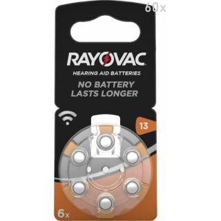 Rayovac Acoustic V13 orange Hörgerätebatterie 10 x 6 St (60 Stück)