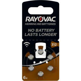 Rayovac Acoustic V312 braun Hörgerätebatterie - 10 x 6 St (60 Stück)