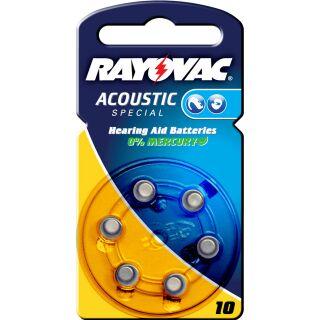 Rayovac Acoustic V10 gelb Hörgerätebatterie - 10 x 6 St (60 Stück)