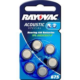 Rayovac Acoustic V675 blau Hörgerätebatterie - 10 x 6 St (60 Stück)