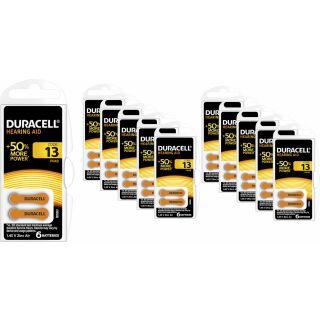 60x Duracell Hörgerätebatterie Activair easytab ZA 13 (PR48) orange (10 x 6 Stück)