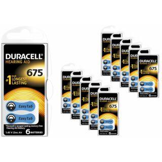 60x Duracell Hörgerätebatterie Activair easytab 675 blau (PR44) (10 x 6er Pack)