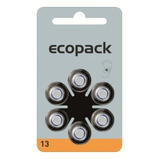 Varta Hörgerätebatterie Ecopack 13 orange - 10 x 6 Stück (60 Stück)