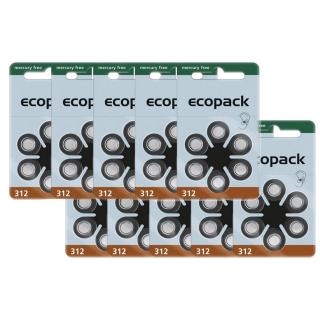 Varta Hörgerätebatterie Ecopack 312 braun - 10 x 6 Stück (60 Stück)