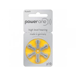 Powerone Hörgerätebatterie PO 10 gelb - 10 x 6 St (60 Stück)