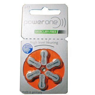 Powerone Hörgerätebatterie PO 13 orange - 10 x 6 St (60 Stück)