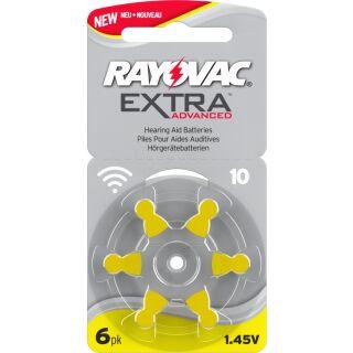 Rayovac Extra H10 gelb Hörgerätebatterie - 10 x 6 St (60 Stück)