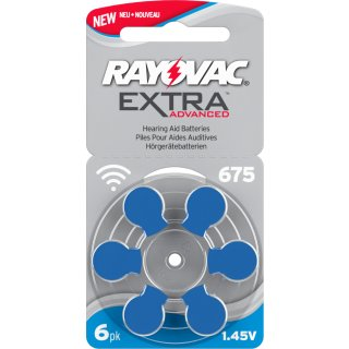 Rayovac Extra V675 blau Hörgerätebatterie - 10 x 6 St (60 Stück)