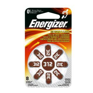 Energizer Hörgerätebatterie AC312 braun - 10 x 8 St (80 Stück)
