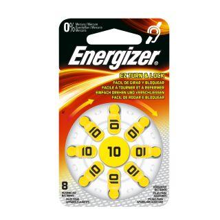 Energizer Hörgerätebatterie AC10 gelb - 6 x 8 St (48 Stück)