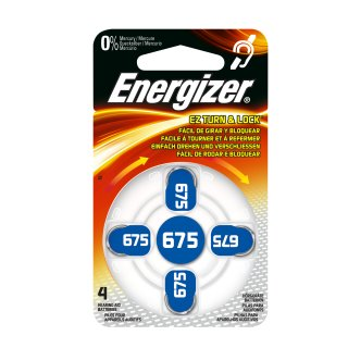 Energizer Hörgerätebatterie AC675 blau - 6 x 4 St (24 Stück)