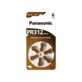 60er Set Panasonic Hörgerätebatterie Zincair 312 braun - 10 x 6 St (60 Stück Batterien) top frisch