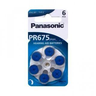 Panasonic Hörgerätebatterie Zincair 675 blau - 10 x 6 St (60 Stück)