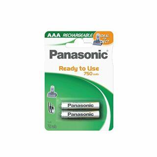 Telefonakku Panasonic AAA DECT-Akku 750mAh 2er Blister
