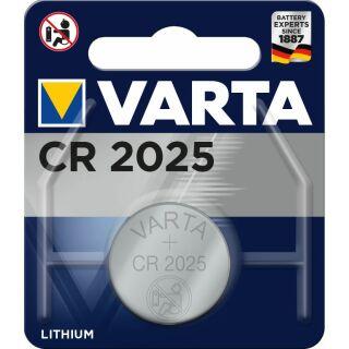 Varta Lithium Knopfzelle CR 2025 3V - 1er Blister / 10 Blister in VKE