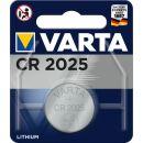 Varta Lithium Knopfzelle CR 2025 3V - 1er Blister / 10...