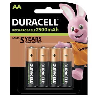 Duracell Recharge Ultra Turbo Akku AA Mignon HR06 2.500 mAh Precharged 4 Stück