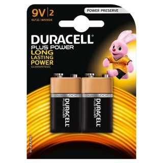 Duracell Plus Power MN 1604-6LR61-9V-E-Block - 2er Blister