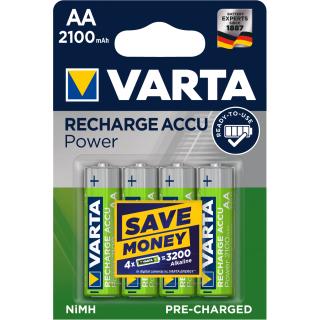 Varta 4er Pack Longlife Akku AA / Mignon 2100 mAH Ready2Use