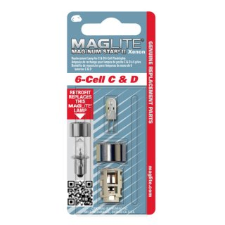 Maglite MSII LMXA601 Leuchtmittel Xenon fr 6C/6D Maglite - 1er Blister