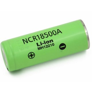 Panasonic Li-Ion NCR18500A 3,7V 2040 mAh Li-Ion Akku Longlife Power