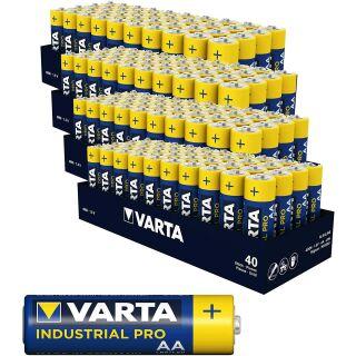 Varta 160er Pack Industrial PRO Alkaline AA / Mignon