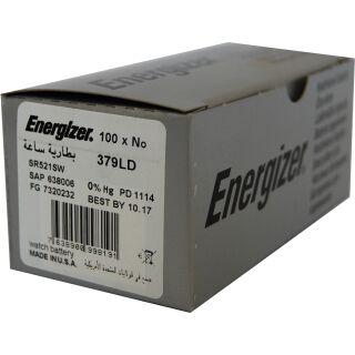 Energizer LD Uhrenbatterie 379-SR63-SR521SW - 100er Pack