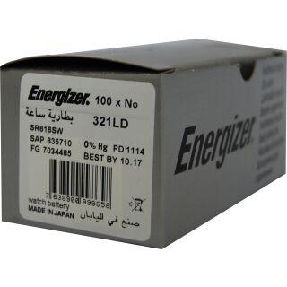 Energizer LD Uhrenbatterie 321-SR65-SR616SW - 100er Pack