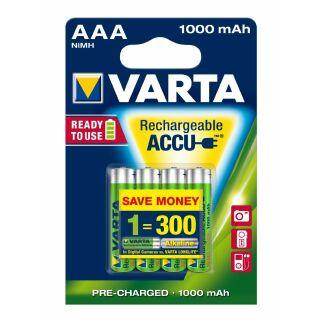 8 STÜCK Varta Accu Rechargeable 5703 HR 3-AAA-Micro 1000 mAH R2U Toys Akkus