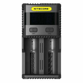 Nitecore SC2 Premium 3A Zwei-Schacht-Schnellladegerät für Li-Ion, LiFePo, Ni-MH Akkus