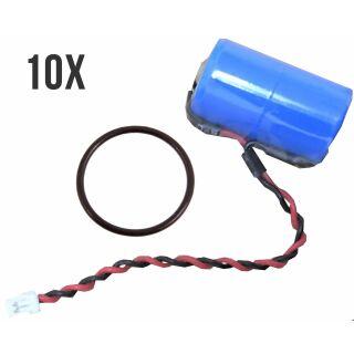 10er Sparpack InfinioO PROTECT M Lithium Batterie ER14250M 3,6V für DOM Protector Schließzylinder/Schließanlage