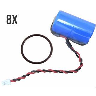 8er Premium Set InfiniO Protect M Lithium Batterie ER14250M 3,6V für DOM Protector Schließzylinder