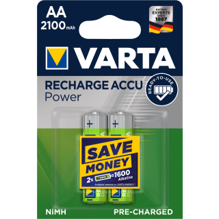 Varta 2er Pack Longlife Akku AA / Mignon 2100 mAH Ready2Use