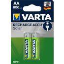 Varta 2er Pack Recharge Akku SOLAR AA / Mignon 800 mAH Ready2Use