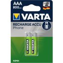 Varta 2er Pack Phone Power T398 AAA Micro 800 mAh für Telefon