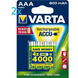 8x Varta Phone Power Akku Micro AAA 1,2 V 800 mAh T398 Telefon NEU 8 Stück R2U