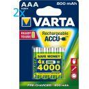 8x Varta Phone Power Akku Micro AAA 1,2 V 800 mAh T398...