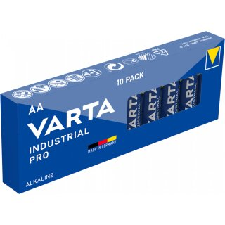 100x Mignon AA / LR6 - Batterie Alkaline, VARTA Industrial 4006, 1,5V, 2950 mAh Batterien Made in Germany