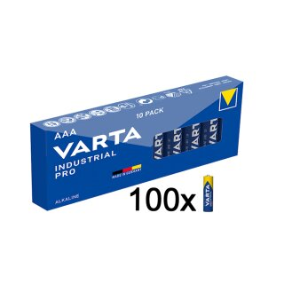 100er SPARSET Micro AAA 4003 Batterie Alkaline VARTA Industrial Made in Germany