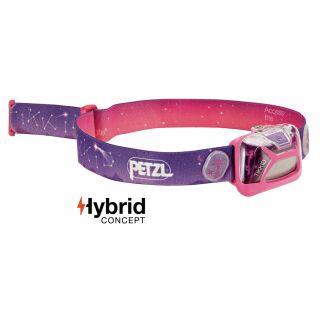 PETZL Kopflampe TIKKID E091BA01 Farbe Rosa, speziell für Kinder