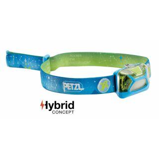 PETZL Kopflampe TIKKID E091BA00 Farbe Blau, speziell für Kinder