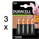 12x Duracell Akku Ultra geringe Selbstentladung AA Mignon...