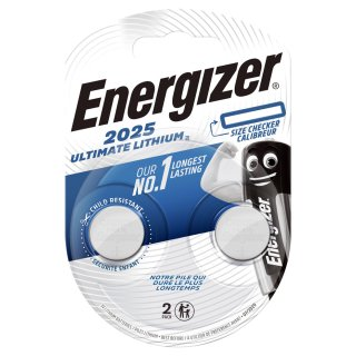 Energizer Ultimate Lithium CR 2025 3V Performance Knopfzelle im 2er Maxiblister