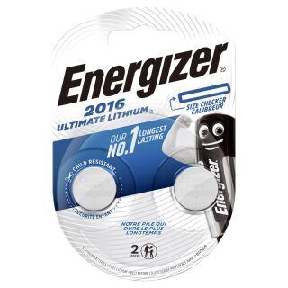 Energizer Ultimate Lithium CR 2016 3V Performance Knopfzelle im 2er Maxiblister