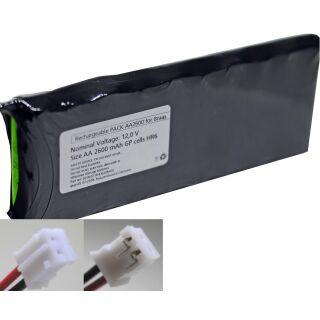 Akkupack für Solarfunksteuerung NiMH GP AA 12 V / 2600 mAh kompatibel zu Akkupack Braas / Delta 10S1P