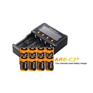 Fenix Schnelladegerät ARE-C2+ inklusive 8x Fenix ARB-L16-700 Akku für ARLO-CAM